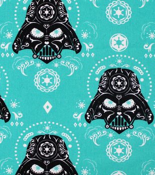 Star Wars™ Darth Vader Sugar Skulls Cotton Fabric