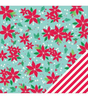 Pebbles Home For Christmas Deck The Halls Double-Sided Cardstock