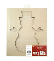 Fab Lab™ Holiday Craft Slat Sign with Shape-Snowman, , hi-res