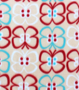 Blizzard Fleece Fabric Cut Out Butterflies