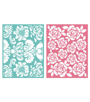 We R Memory Keepers Goosebumpz A2 Embossing Folders Floral