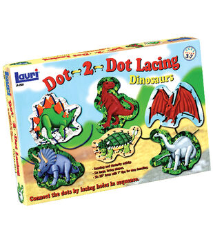 Dot-2-Dot Lacing Kit-Dinosaurs