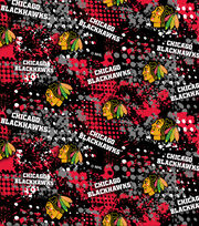 Chicago Blackhawks NHL All Over Cotton Fabric, , hi-res