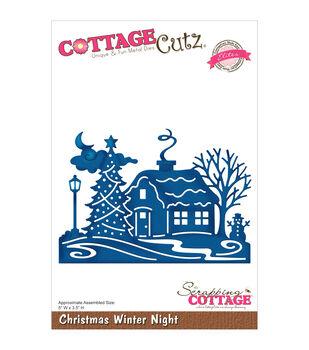 CottageCutz Elites Die-Christmas Winter Night