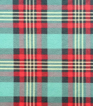 Micro Fleece Fabric-Sweet Plaid