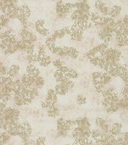 Legacy Studio Gilded Leaves Cotton Fabric-Ivory With Gold Metallic, , hi-res