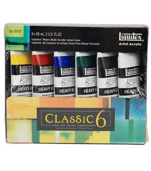 Liquitex Heavy Body Acrylic Paint Classic Set 2oz 6Pk
