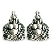 Blue Moon Beads Metal Pendant Buddha Antique Silver, , hi-res