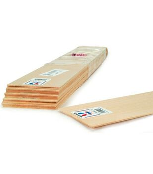 Basswood 24'' Sheets-15PK/1/8''x2''