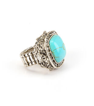 Oxford Street Jewelry Co. SIlver Turquoise Square Ring
