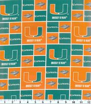 University of Miami NCAA  Cotton Fabric, , hi-res