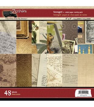 7 Gypsies 8X8 inch Serengeti Paper Pad