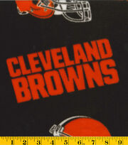 Cleveland Browns NFL Fleece Fabric by Fabric Traditions, , hi-res