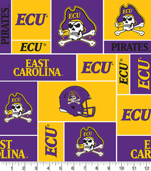 East Carolina University NCAA Block Fleece Fabric