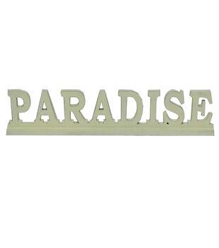 Escape To Paradise Wooden Table Decor-Paradise