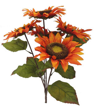 Blooming Autumn 18'' Sunflower Bush-Orange