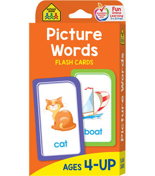 Flash Cards-Picture Words 53/Pkg