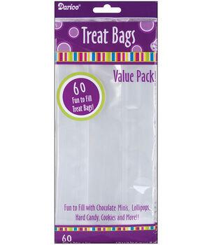 "4""x9"" Treat Bags-60PK/Clear"