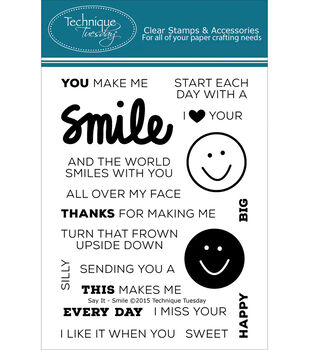 Technique Tuesday Smile Clear Stamps