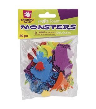 Fibre Craft Foam Stickers-50PK/Monsters