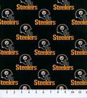 Pittsburgh Steelers NFL Black Cotton Fabric by Fabric Traditions, , hi-res