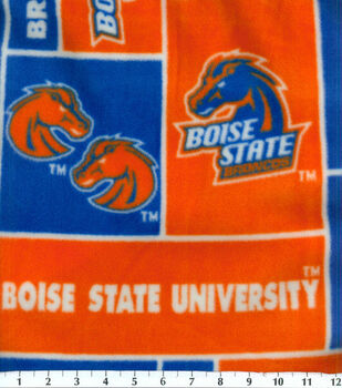 Boise State NCAA  Fleece Fabric
