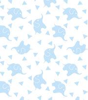 Nursery Fabric - Elephant Confetti Blue Flannel, , hi-res