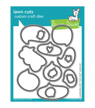 Lawn Fawn Lawn Cuts Custom Craft Die-Chit Chat