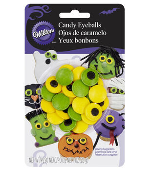 Wilton® Candy Decorations 24/Pkg-Green & Yellow Eyeballs
