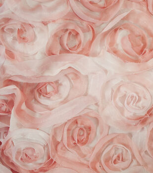 David Tutera Fabric- Chiffon Ombre Ribbon Rose