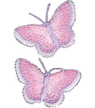 """Wrights Iron-On Appliques-Butterfly 1""""X1-1/2"""" 2/Pkg"""