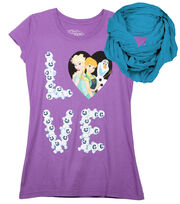 Disney Frozen Love Shirt with Scarf, , hi-res