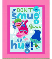 Dreamworks Trolls No Sew Fleece Throw-Give A Hug , , hi-res