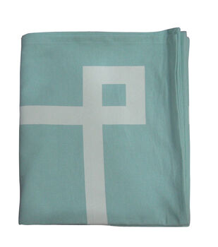 Easter Blue With White Border Square Tablecloth