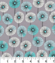 Cloud 9 Premium Cotton Fabric-Fans Gray, , hi-res