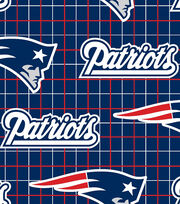 New England Patriots NFL Flannel Fabric by Fabric Traditions, , hi-res
