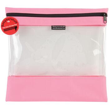 "Seeyourstuff Clear Storage Bags 12""X13""- Pink"