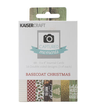 "Captured Moments Double-Sided Cards 3""X4"" 48/Pkg-Basecoat Christmas"