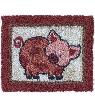"Pink Pig Punch Needle Kit-3-3/4""X3"""