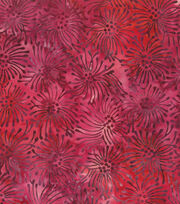 Premium Prints Cotton Fabric-Starburst Watercolor Red, , hi-res