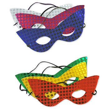Multicraft Imports Festive Sequin Mask With Band