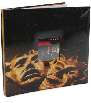 "MBI 12""x12"" Postbound Album-Drama Mask"