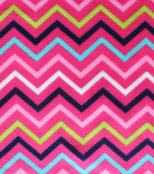 Blizzard Fleece Fabric-Katies Chevron