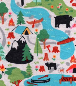 Northwoods Flannel Fabric-Campsite