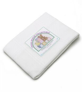 Charles Craft Nursery Time Baby Afghan Antique White