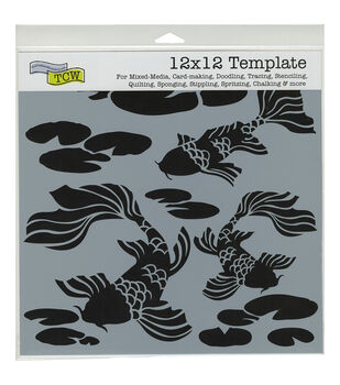 """Crafter's Workshop Template 12""""X12""""-Koi Pond"""