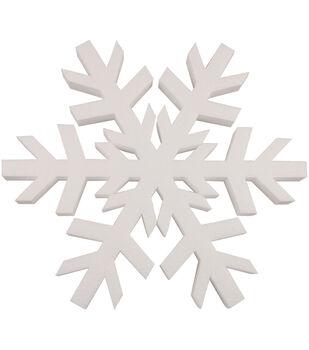 "Plasteel Corp Smooth Foam Snowflake 12"" 1Pk-White"
