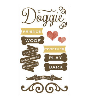 Hound Dog Clear Stickers-Dog
