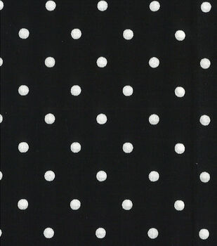 Quilter's Showcase™ Cotton Fabric-Dots Black/White