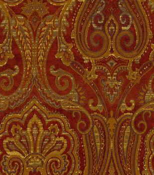 Waverly Upholstery Fabric-Clubroom Paisley Crimson